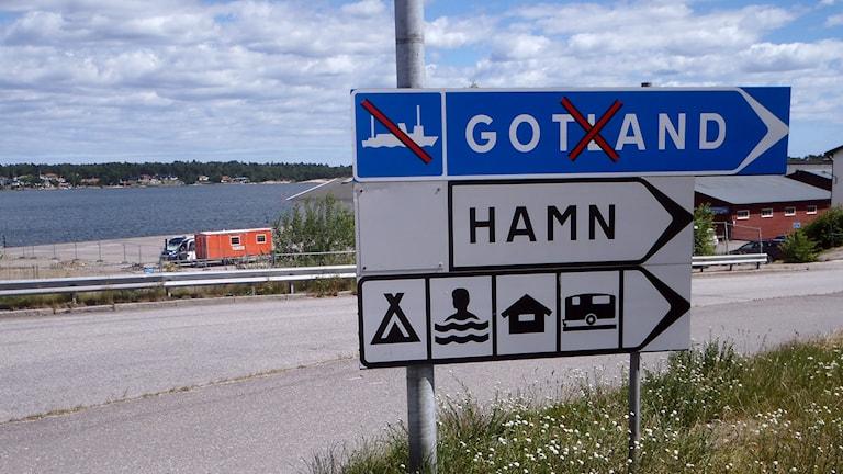Ännu ingen Gotlandsbåt till Västervik. Foto: Jonas Neuman/P4 Gotland Sveriges Radio
