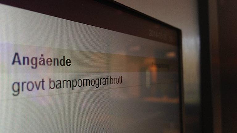 Rättegång barnpornografibrott. Foto: Erica Hedin/Sveriges Radio
