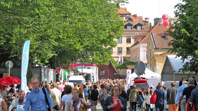 Almedalsveckan. Foto: Mika Koskelainen/Sveriges Radio