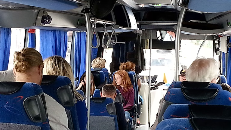 Busspassagerare på Gotland. Foto: Eva Sjöstrand/P4 Gotland Sveriges Radio