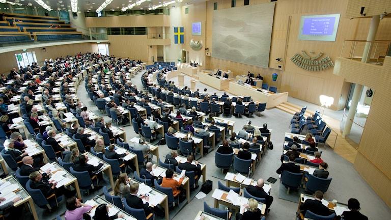 Riksdagen. Foto: Melker Dahlstrand/Riksdagsförvaltningen