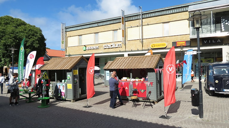 Valstugor Östercentrum Visby. Foto: Mika Koskelainen/Sveriges Radio