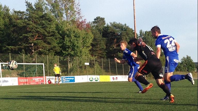 FC Gute mot Värmbol FC på Rävhagens IP.
