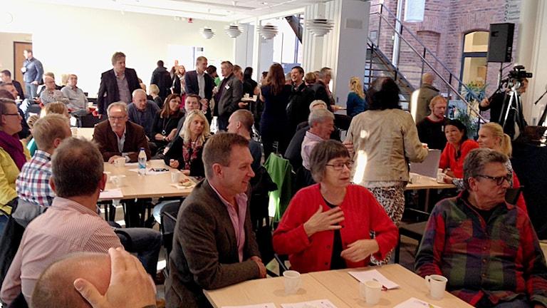 Näringslivsmöte i Nya Visborg. Foto: Patrik Annerud/Sveriges Radio