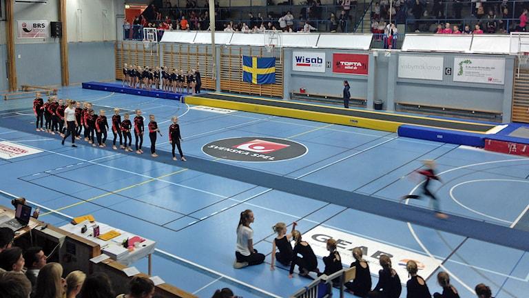 Gymnastik. Foto: Linnea Hansson/Sveriges Radio