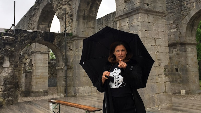 Skådespelaren Malin Arvidsson fick för en vecka sedan reda på att hon skulle spela en av huvudrollerna i sommarens Shakespeareuppsättning i Roma. Nu är hon på plats och supertaggad.
