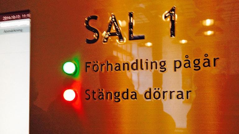 Stängda dörrar Gotlands tingsrätt. Foto: Katarina Hedström/Sveriges Radio