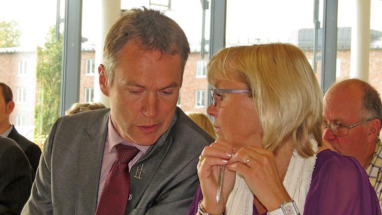 Lars Thomsson och Eva Nypelius. Foto: Mika Koskelainen/Sveriges Radio