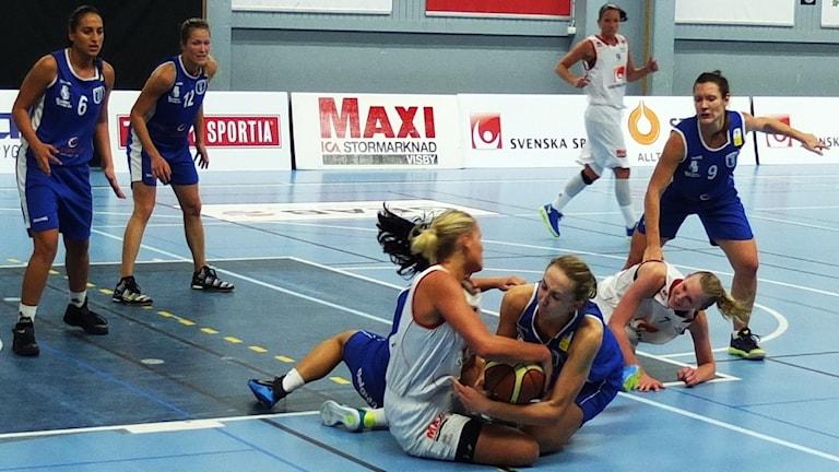 Visby Ladies mot Akropol i Södervärnshallen.