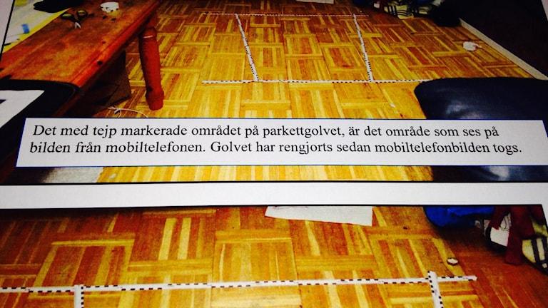 Tortyrliknande misshandel. Ur förundersökningsprotokollet. Foto: Katarina Hedström/Sveriges Radio