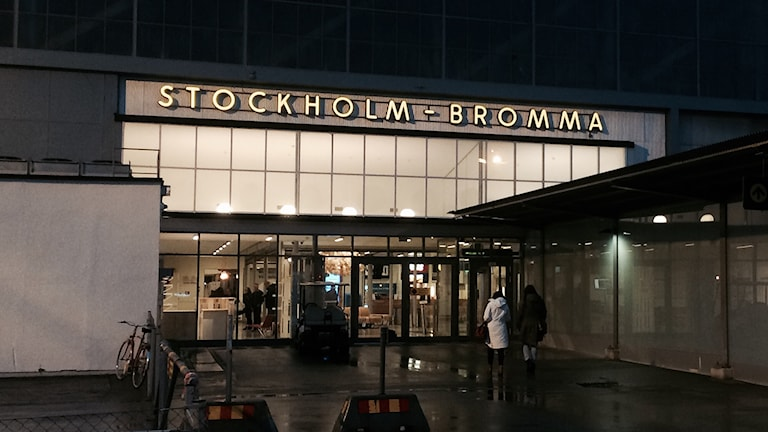 Bromma flygplats. Foto: Carin Berggren/Sveriges Radio