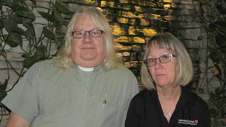 Christer Schwartz och Lisa Nygren. Foto: Jonas Neuman/Sveriges Radio