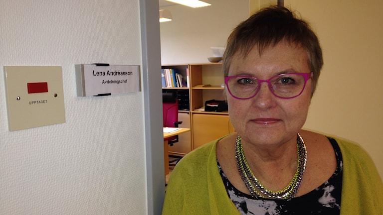 Lena Andréasson, avdelningschef för Region Gotlands särskilda boenden. Foto: Katarina Hedström/Sveriges Radio