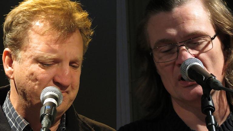 Lennart Bäck och Johan Norrby. Foto: Jonas Neuman/Sveriges Radio