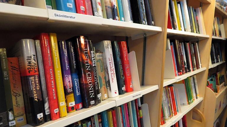 Böcker i hylla. Foto: Jonas Neuman/Sveriges Radio