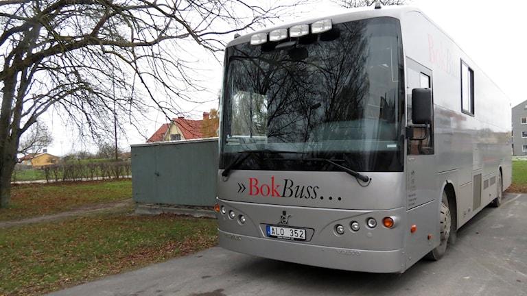 Bokbussen. Foto: Jonas Neuman/Sveriges Radio