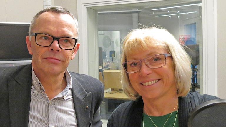Åke Svensson och Eva Nypelius. Foto: Mika Koskelainen/Sveriges Radio