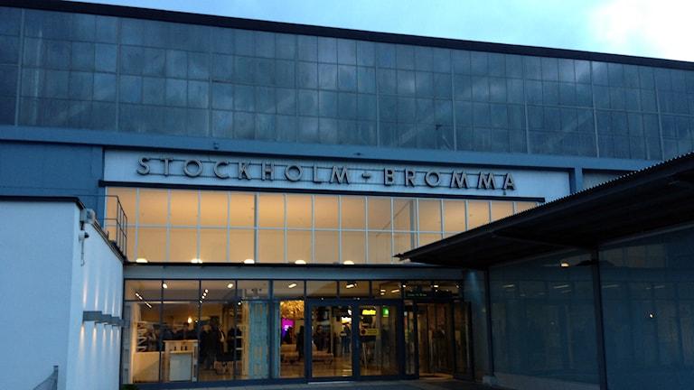 Bromma flygplats. Foto: Mika Koskelainen/Sveriges Radio