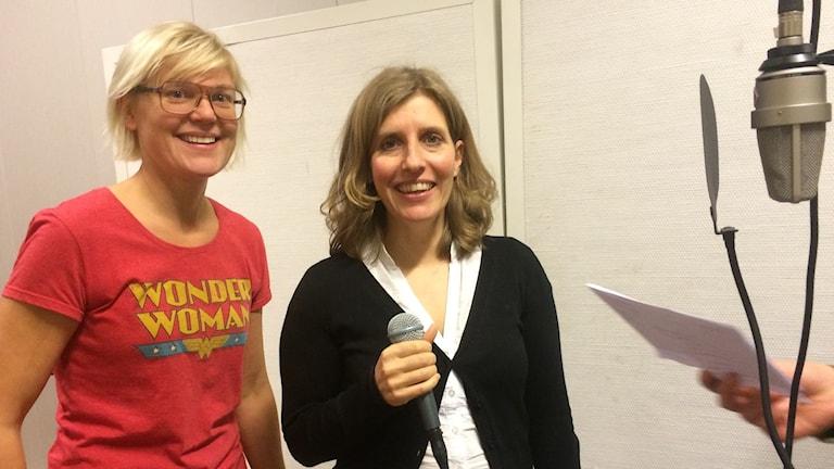 Hildur Hadenius och Tove Iacobaeus. Foto: Anna Granath/Sverigesradio