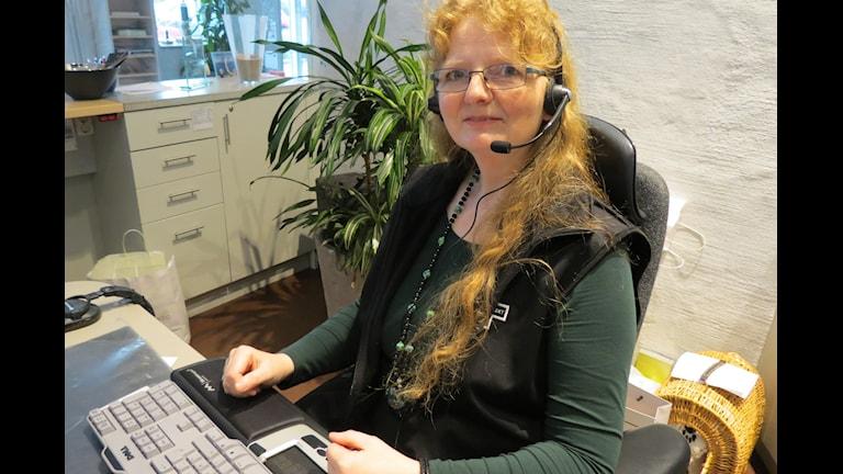 Telefonsjuksköterskan Milo Linde, Sjukvårdsrådgivningen. Foto: Ulrika Uusitalo Fernholm Sveriges Radio