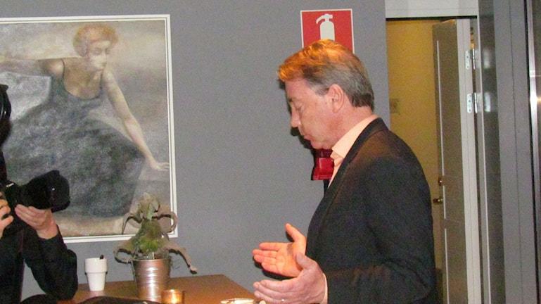 Regiondirektör Jan Björinge efter att han avskedats. Foto: Gunnel Wallin/Sveriges Radio
