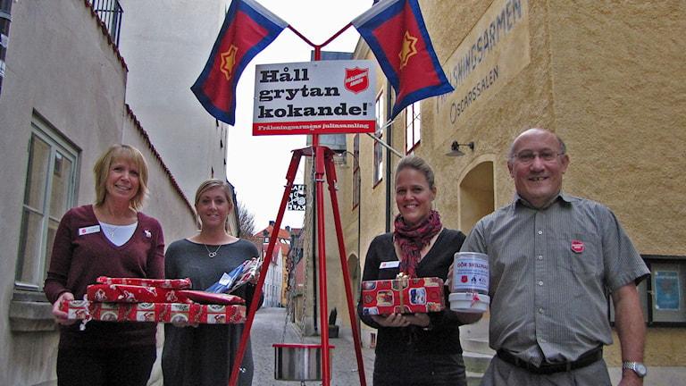 Fr.v Ann Christine Karlsten, Josefine Eriksson, Johanna Fryk o Peter Woode. Foto Lasse Ahnell Sverigesradio