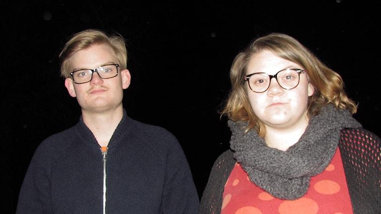 Gustav Åhlén och Antonia Broën. Foto: Mika Koskelainen/Sveriges Radio