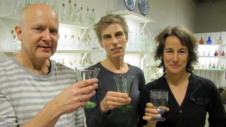 Christer Matsson, Jenny Tingvall och Klara Waldenström. Foto: Ulrika Uusitalo Fernholm/Sveriges Radio