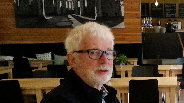 Christer Jonsson, bokformgivare. Foto: Eva Sjöstrand/Sveriges Radio