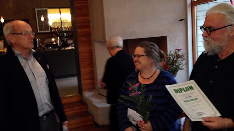 Tommy Wahlgren, Lotte Nygren och Roland Ingemarsson. Foto: Parik Annerud/Sveriges Radio