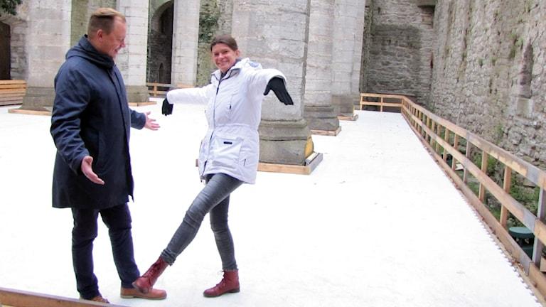Fredrik Broman och Sofia Hoas. Foto: Gunnel Wallin/Sveriges Radio