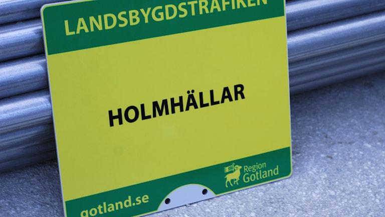 Busshållplats. Foto: Region Gotland
