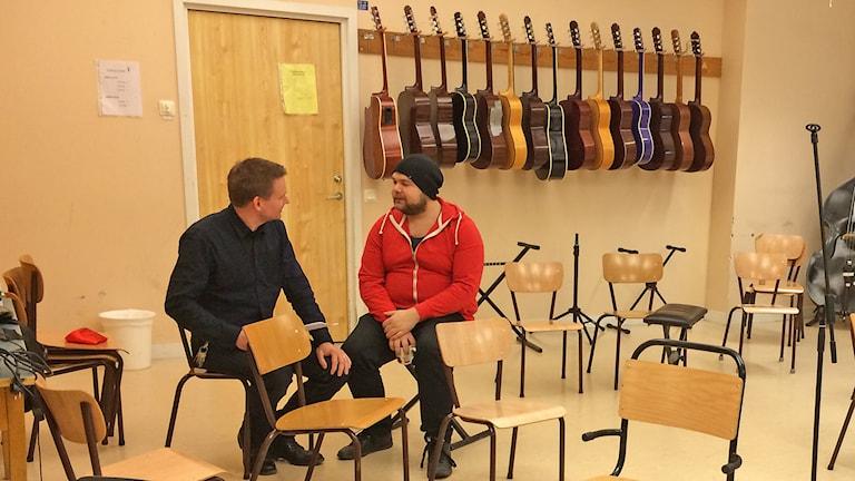 Andreas Bäckman och Markus Johnson. Foto: Hanna Sihlman/Sveriges Radio