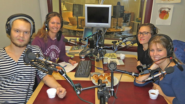 Kim Hemström, Ulrika Uusitalo Fernholm, Josefin Alfredsson och Josefin Ringbom. Foto: Mika Koskelainen/Sveriges Radio