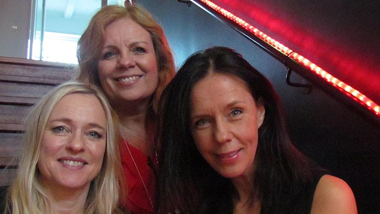 Annika Fehling, Anneli Roswall och Bittis Jakobsson. Foto: Mika Koskelainen/Sveriges Radio