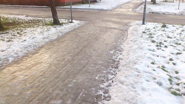 Hala gångvägar i Visby. Lyssnarbild