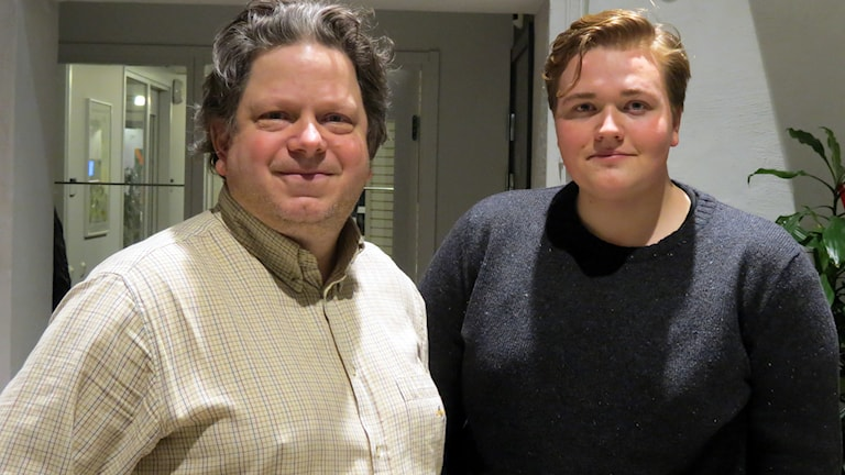 Mats Linder och David Lindvall. Foto: Jonas Neuman/Sveriges Radio