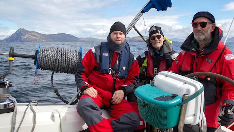 Kalle Ljung, Per-Erling Evensen och Lasse Ljung. Foto: Privat