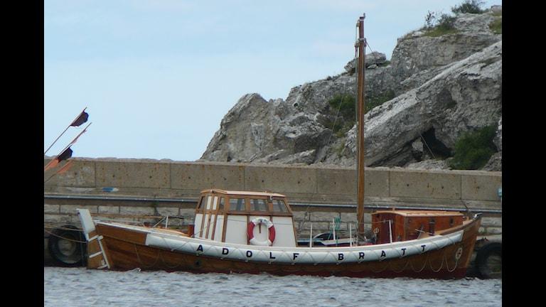 Adolf Bratt, räddningskryssare som renoveras. Foto: Karin Brindt P4/Gotland