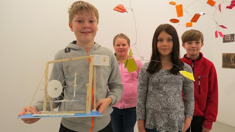 Simon Thomasson, Amanda Johansson, Tilda Ekedahl, Jakob Engelhart. Foto: Ulrika Uusitalo-Fernholm/Sveriges Radio