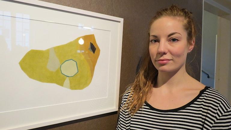 Konstnären Johanna Ljungberg. Foto: Ulrika Uusitalo Fernholm/Sveriges Radio