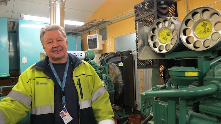 Lars-Erik Ljunggren, teknisk ansvarig på Visby flygplats. Foto: Ulrika Uusitalo Fernholm/Sveriges Radio