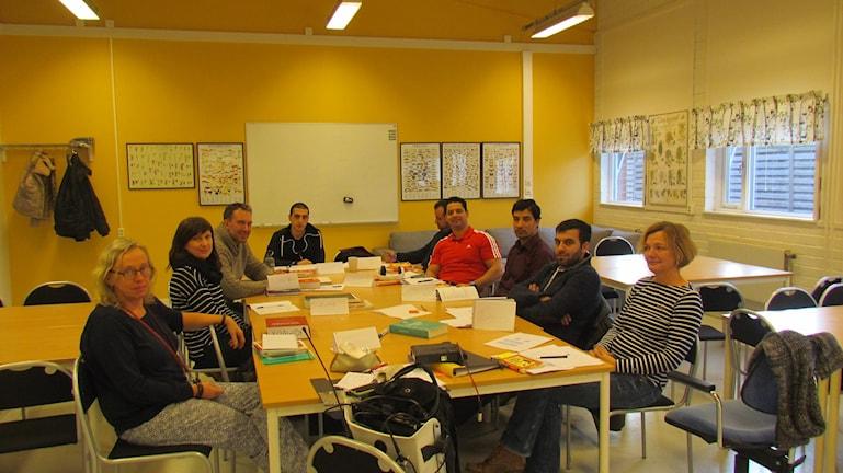 Klassrum för SFI-elever i Visby. Foto: Tomas Ardin/Sveriges Radio
