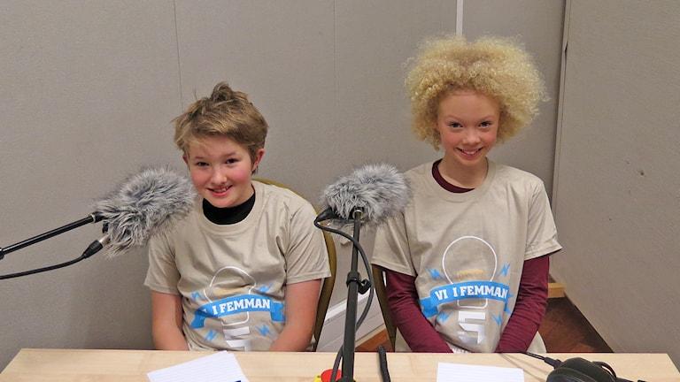 Hampus Lind och Tuwa Malmberg. Foto: Mika Koskelainen/Sveriges Radio