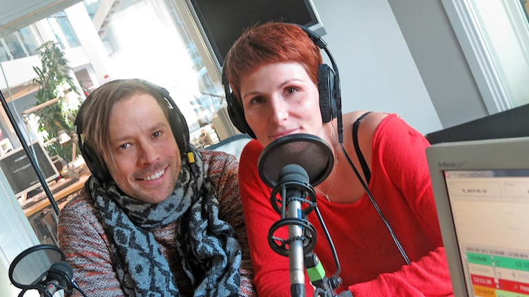 Erik Larsson och Cristina Jardim Ribeiro. Foto. Mika Koskelainen/Sveriges Radio