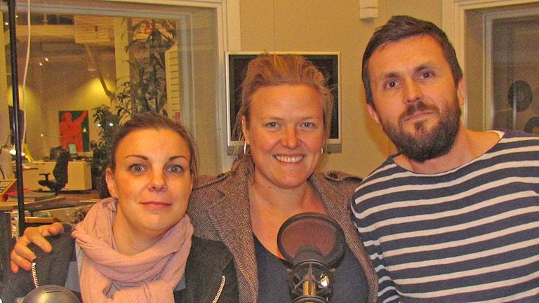 Hanna Lindström, Linda Larsson, Christoffer Robin Maurin. Foto: Mika Koskelainen/Sveriges Radio