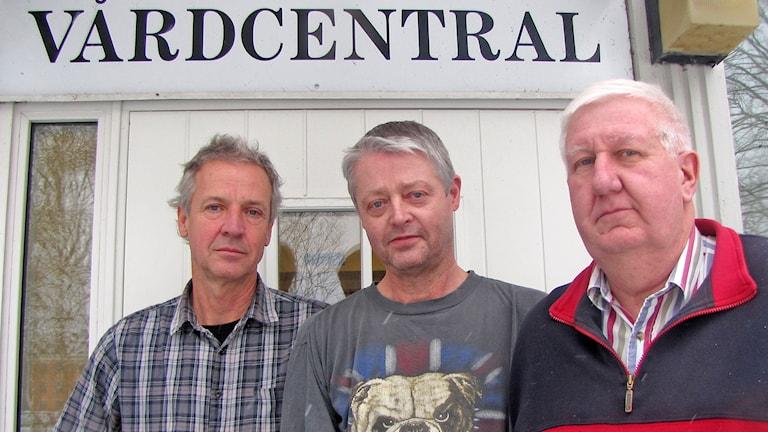 Krister Dahlman, Philip Franklin och Tomas Lundh. Foto: Ulrika Uusitalo Fernholm/Sveriges Radio