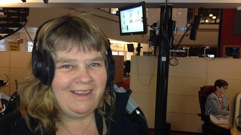 Mari Winarve på Svenska Spel. Foto: Mika Koskelainen/Sveriges Radio