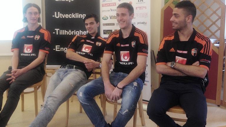 FC Gutes Alex Backeus, Martin Silva, Aleksandar Avric och Bassam Awad.