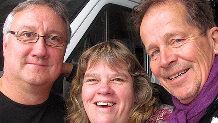 Sivert Nordström, Mari Winarve och Tomas Ardin. Foto: Henrik Wallenius/Sveriges Radio